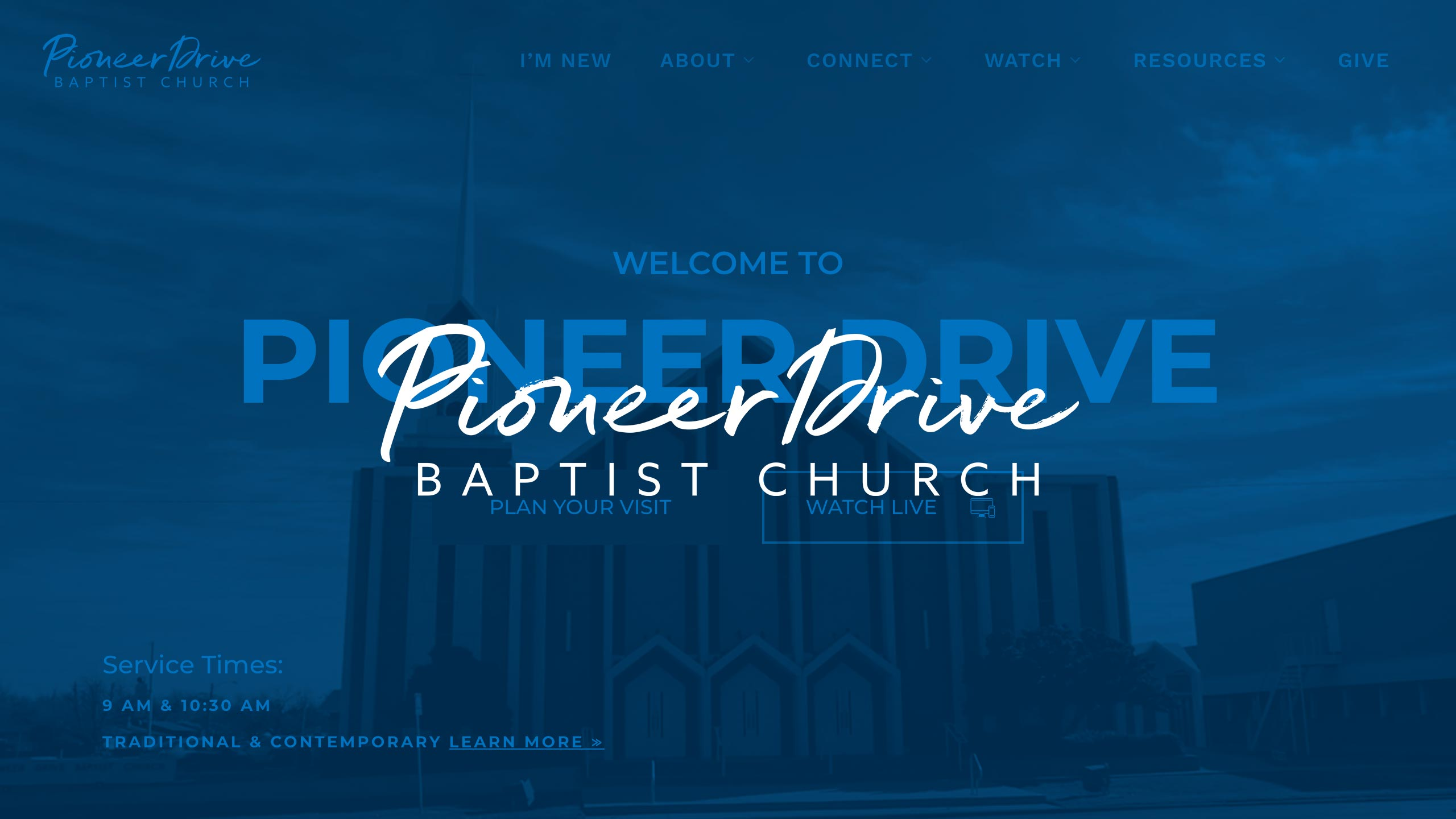 Web Development – Pioneer Drive Baptist Church